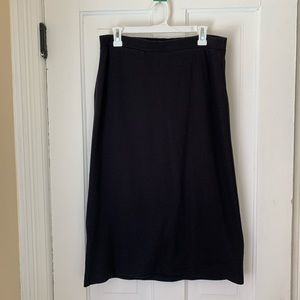 L.L. Bean Basic Black Skirt